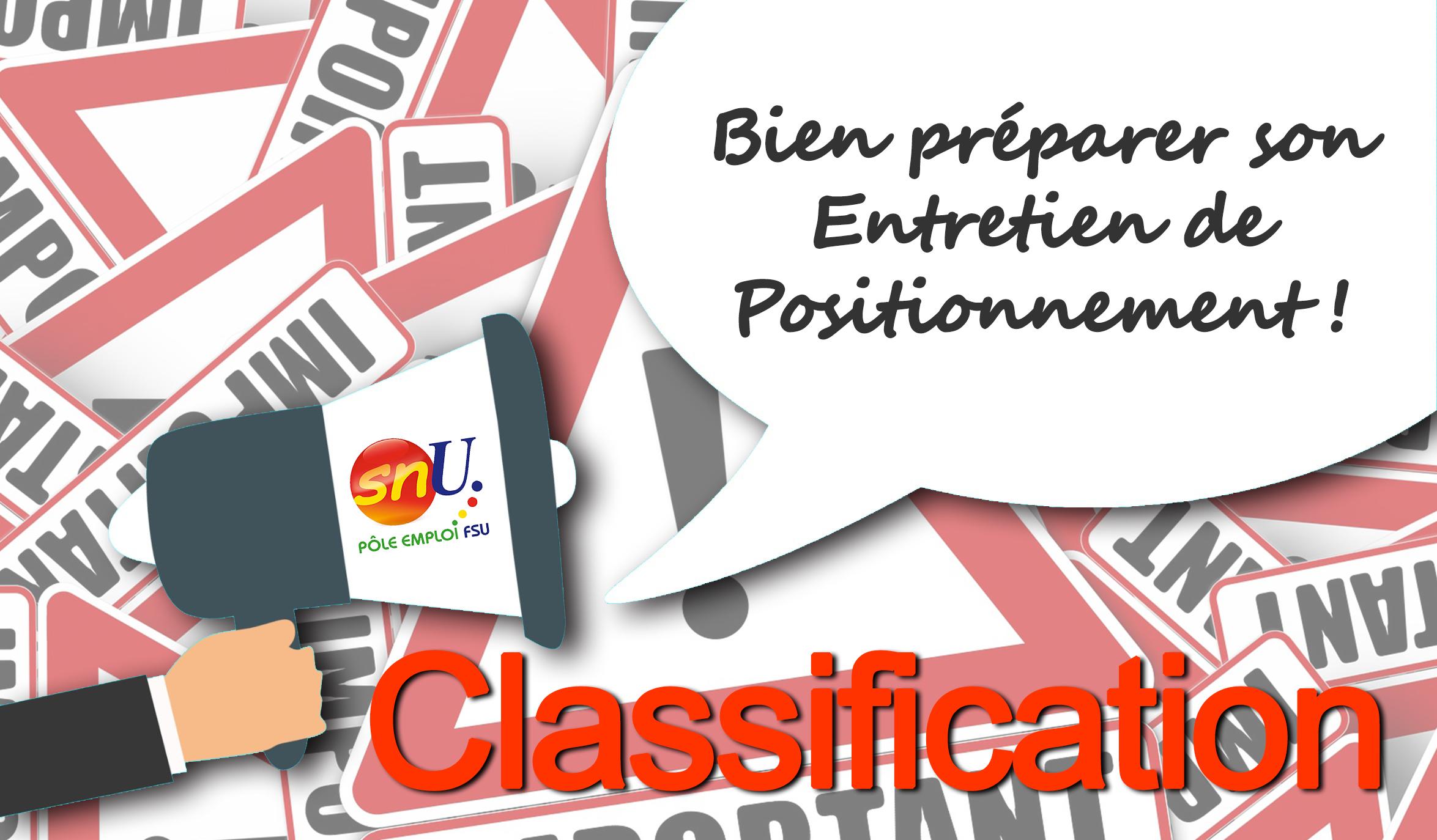 Classification : Positionnement et recours